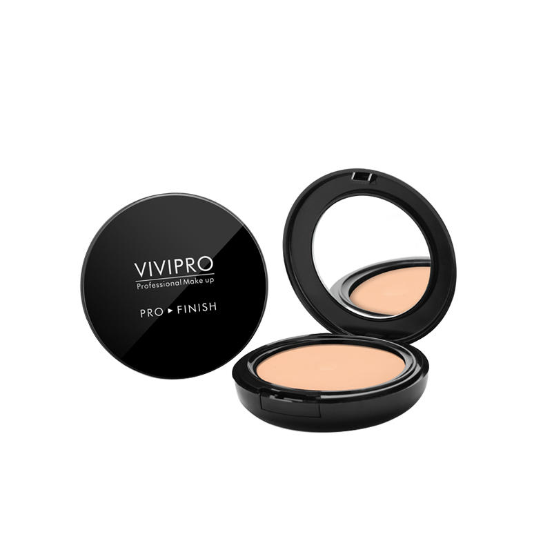 Face makeup powder foundation toner mineral cosmetics finishing compact powder with puff and mirror VIVI-H015
