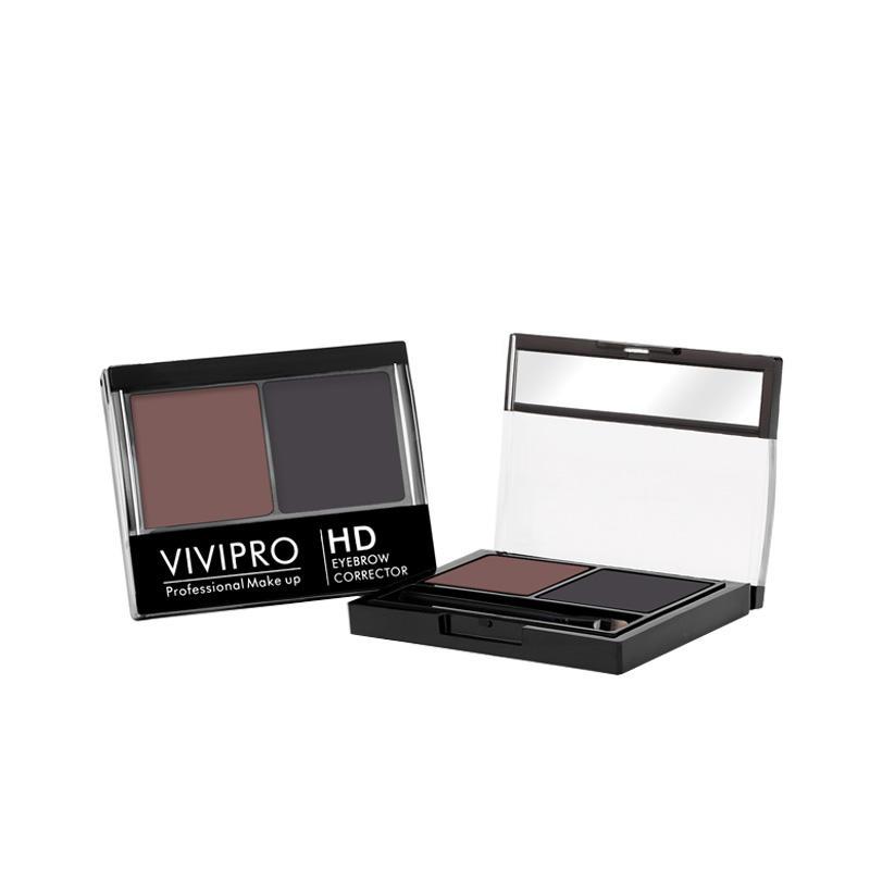 Eyebrow powder + eyebrow gel Cosmetics Makeup Waterproof Eyebrowcorrector with Brush VIVI-H012