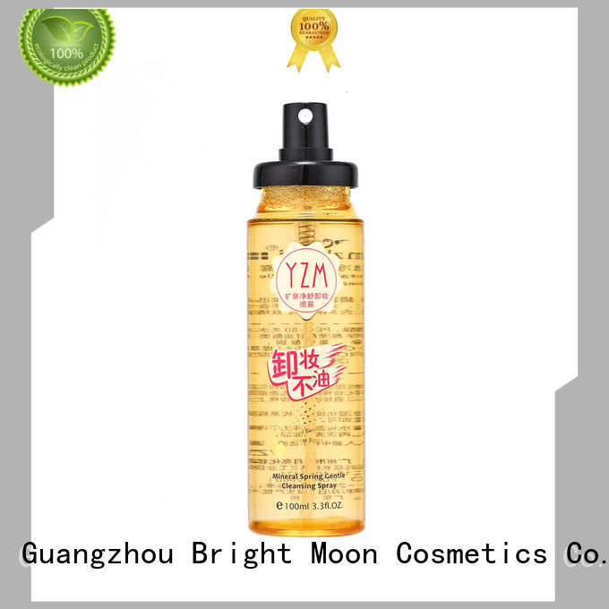 Bright Moon oil free water based makeup remover suppliers for trader