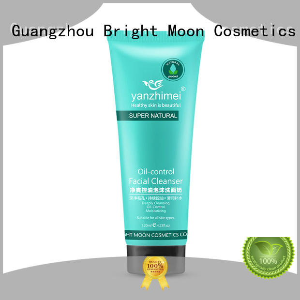 Bright Moon foam cleanser amino acid facial cleanser manufacturers for facial cleansing