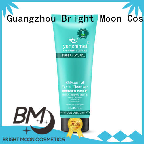 Bright Moon 120ml skin facial cleanser manufacturer for skincare