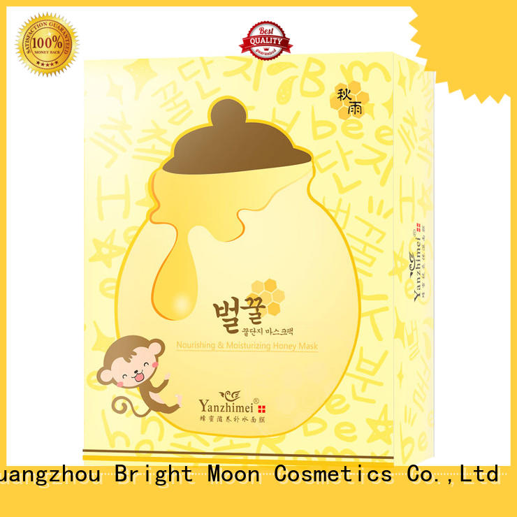 Bright Moon whitening moisturizing face mask manufacturers for girls